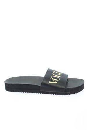flipflop Sandalias cómodas negro letras impresas look casual