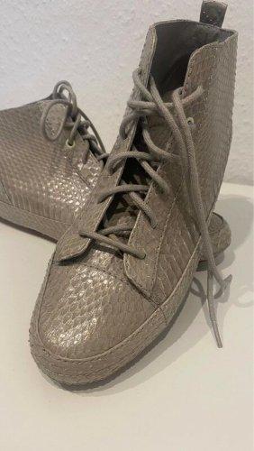 Flip*flop Sznurowane buty srebrny-w kolorze białej wełny Skóra