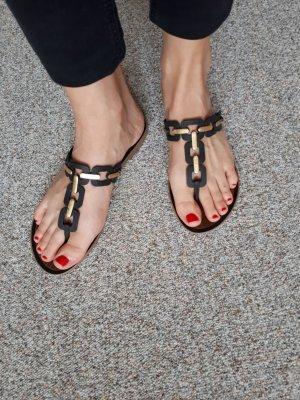 Grendha Flip flop sandalen zwart-goud