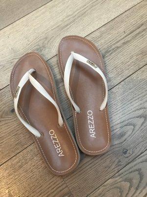Arezzo Flip-Flop Sandals light brown-natural white