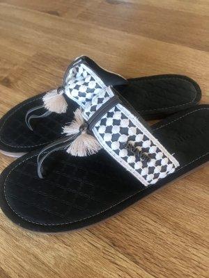 Brunotti Flip flop sandalen donkerbruin-wolwit