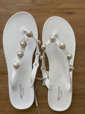 Flipflops mit Perlen Neu mit Etikett