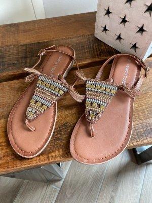 Marco Tozzi Flip-Flop Sandals light brown-sand brown mixture fibre