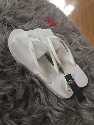 Hollister Flip-Flop Sandals white-light pink
