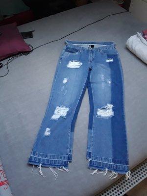 Rainbow Jeans 7/8 bleu-bleu foncé