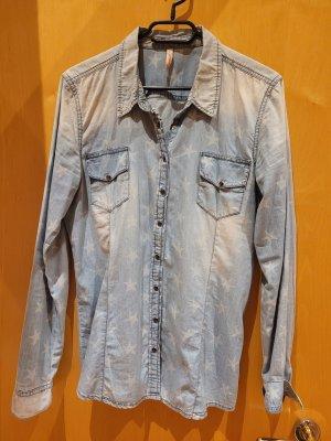 FB Sister Denim Shirt pale blue