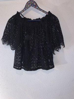 H&M Crochet Shirt dark blue