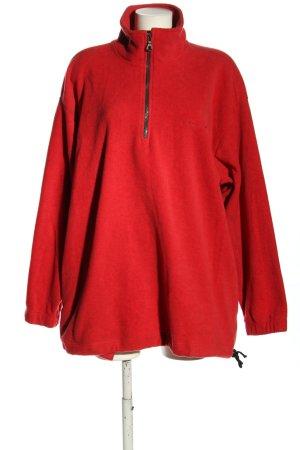 Flli Campagnolo Sudadera de forro rojo moteado look casual