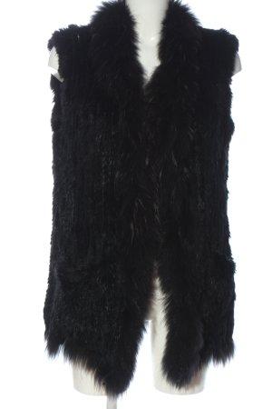 "Flona Fur vest ""W-44wkkm"" black"