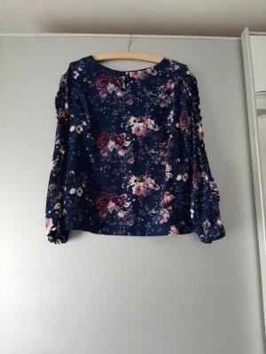 floral Bluse mit Rüschen