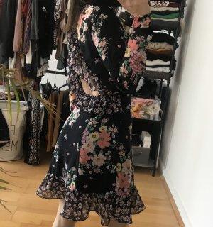 Floral Kleid mit Rückenausschnitt