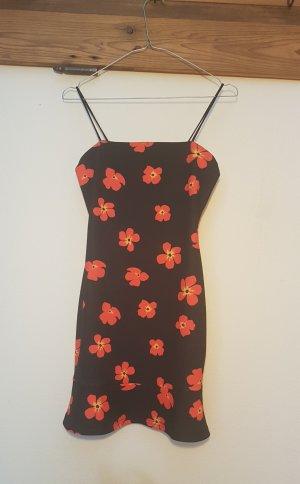 Floral Strappy Frill Hem Dress- Jersey Kleid