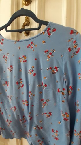 Florale Bluse mit Knopfreihe hinten