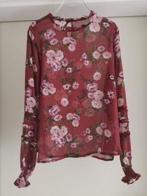 Florale Bluse mit Rüschen
