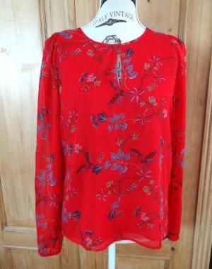 Banana Republic Slip-over blouse rood-korenblauw Polyester