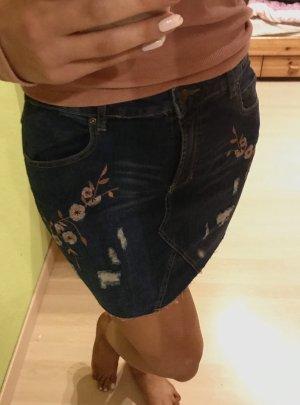 Denim Skirt pink-blue