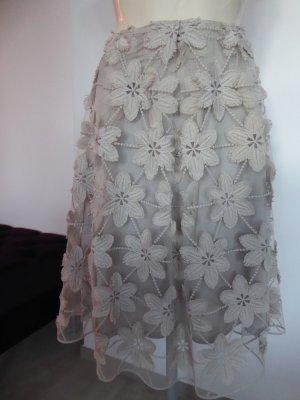 Lace Skirt beige synthetic fibre