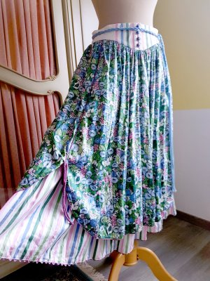 Vintage Flared Skirt multicolored cotton