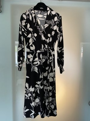 H&M Abito a maniche lunghe nero-crema