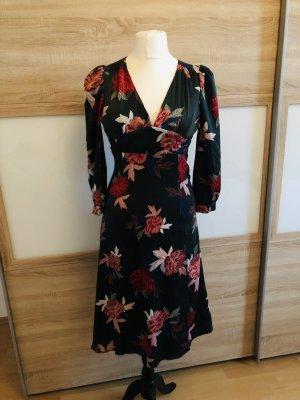 Florales Kleid mit Rückenausschnitt
