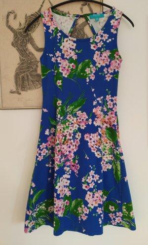 Fever london Letnia sukienka różowy-niebieski neonowy