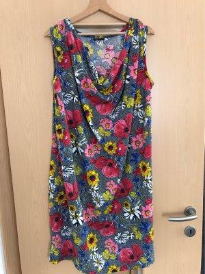 Florales Kleid mit Wasserfallausschnitt