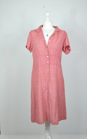 Florales Vintage Kleid mit Knopfleiste