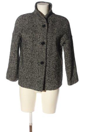 Floreiza Krótki płaszcz czarny-biały W stylu casual