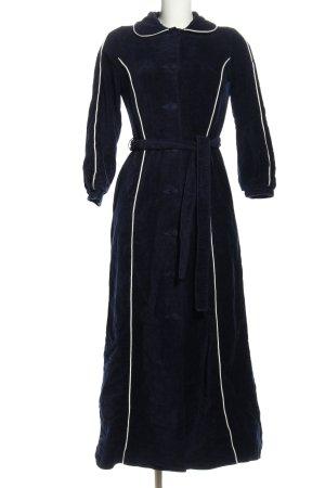 florex Robe manteau bleu-blanc style décontracté