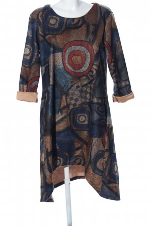 Floryday Hippiekleid blau-braun Allover-Druck Casual-Look