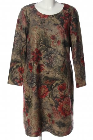 Floryday Langarmkleid Blumenmuster Casual-Look
