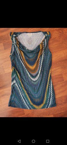 Street One Cowl-Neck Top yellow-blue