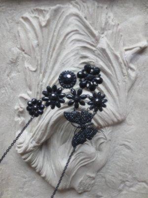 Flower Butterfly Kette black