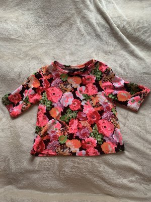 Flower cropped shirt