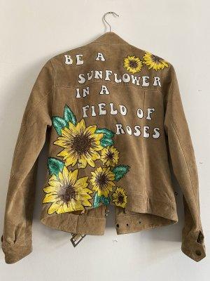Flower - Echt Leder Jacke