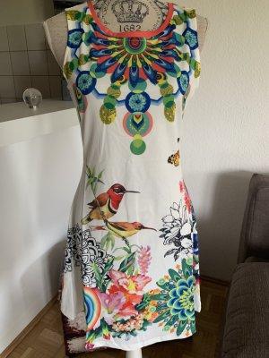 Flower Sommer-Tunika-Kleid - Größe S/M 34/36 - White/Color - FRESH!