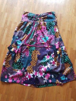 flower summer dress of silk