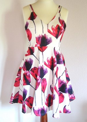 Flowerprint Skaterdress Sommerkleid Cocktailkleid UK 8