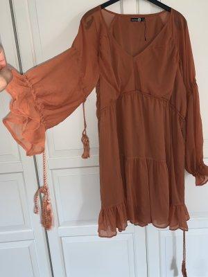 Chiffon jurk donker oranje