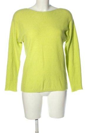 Fluffy Ears Kaszmirowy sweter bladożółty W stylu casual