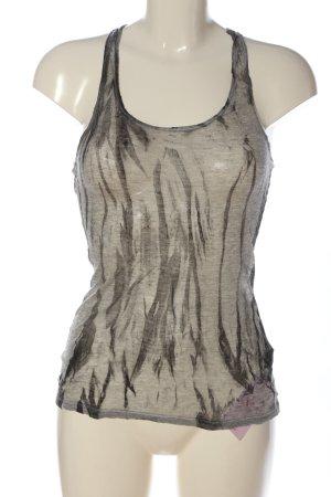 fluxus Camiseta sin mangas gris claro estampado con diseño abstracto