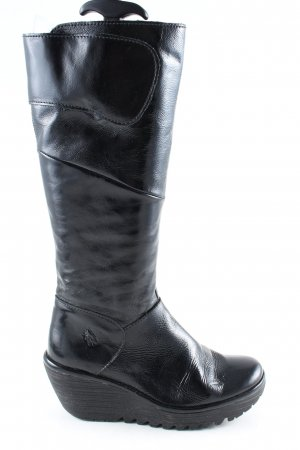 Fly london Absatz Stiefel schwarz Business-Look