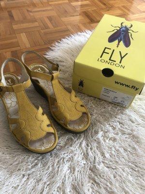 Fly london Sandales à plateforme jaune primevère
