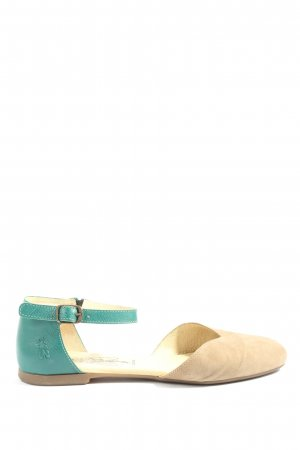 Fly london Slingback Ballerinas turquoise-cream casual look