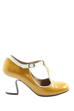 Fly london T-Strap Sandals primrose-white wet-look