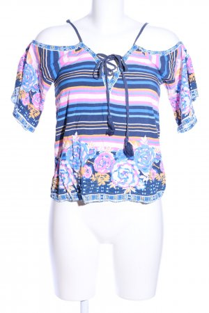 flying tomato Cropped Shirt Blumenmuster Casual-Look