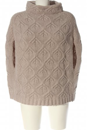 fogal Knitted Poncho cream casual look