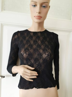 fogal Crochet Shirt black nylon