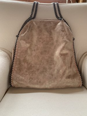 Fold-Over Tote Bag, hellrosa-gold farben
