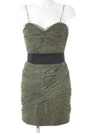 Foley + corinna Trägerkleid olivgrün-schwarz Party-Look